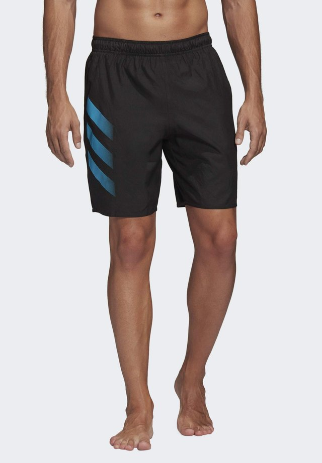 BOLD 3-STRIPES CLX SWIM SHORTS - Badeshorts - black