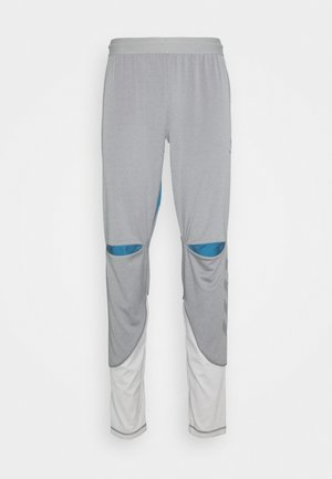 HMLINVICTA - Tracksuit bottoms - sharkskin/gray violet