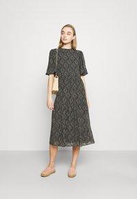 ONLY - ONLNINA MIDI DRESS - Day dress - black/graphic - 1