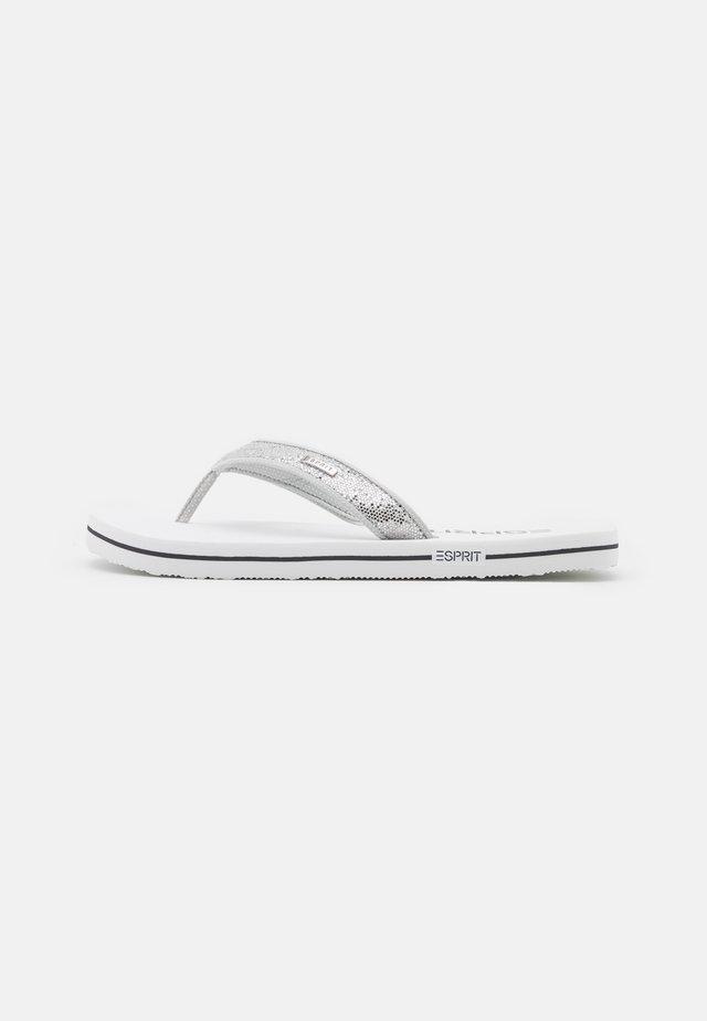 GLITTER THONGS - Sandalias de dedo - white