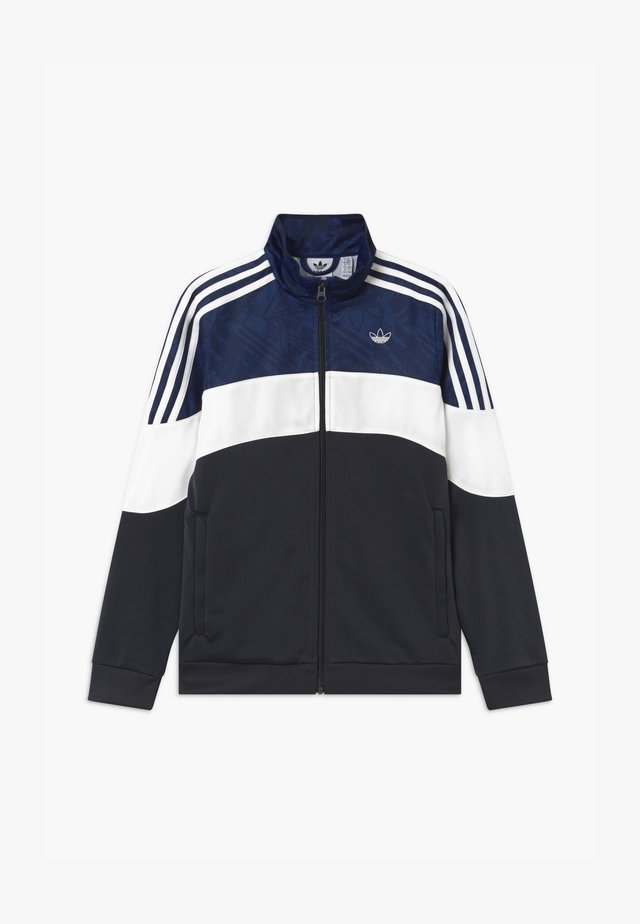 TRACK UNISEX - Trainingsjacke - black/dark blue/white