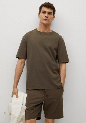 RELAXED FIT - Basic T-shirt - kaki