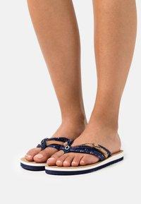 s.Oliver - T-bar sandals - navy - 0