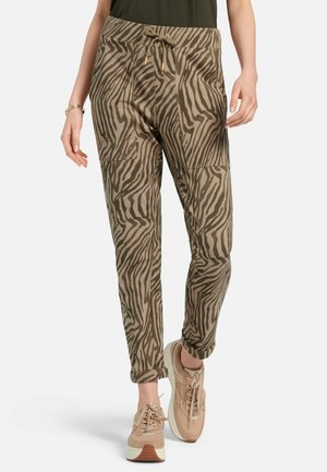 Tracksuit bottoms - taupe schwarz