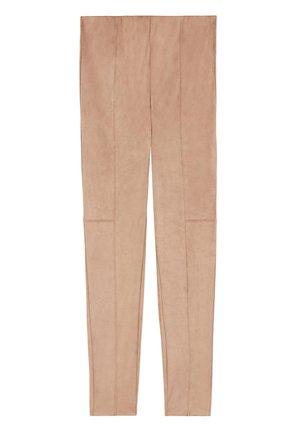LEGGINGS IN VELOURSOPTIK - Leggings - Stockings - hautfarben - 206c - beige