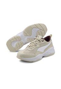 Puma - CILIA - Baskets basses - vaporous gray-white-burgundy - 2