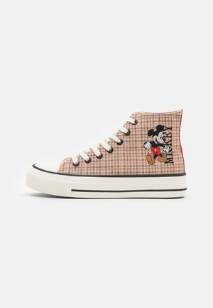 MICKEY BRITT RETRO  - Sneakersy wysokie - beige