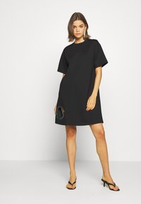Diesel - EYESIE DRESS - Jersey dress - black - 1