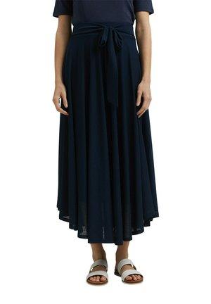 LONG - Maxi skirt - navy