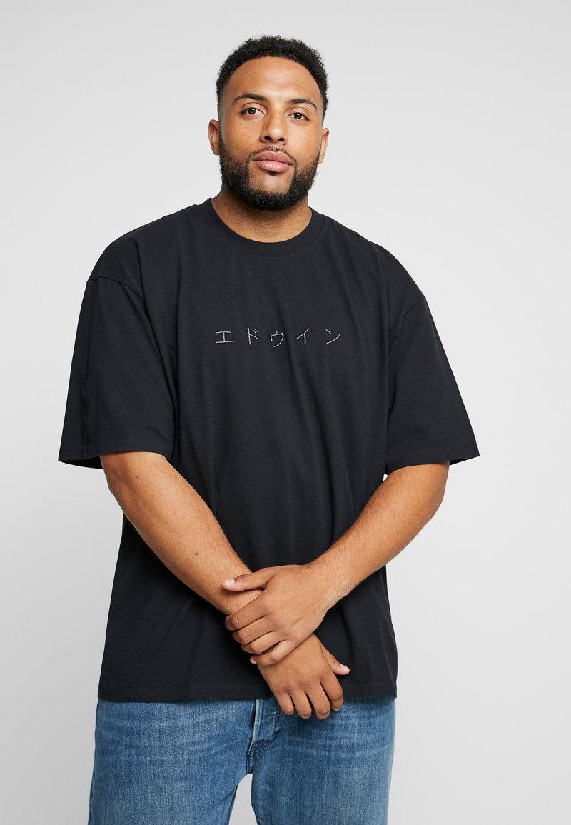 Edwin - KATAKANA EMBROIDERY - Basic T-shirt - black