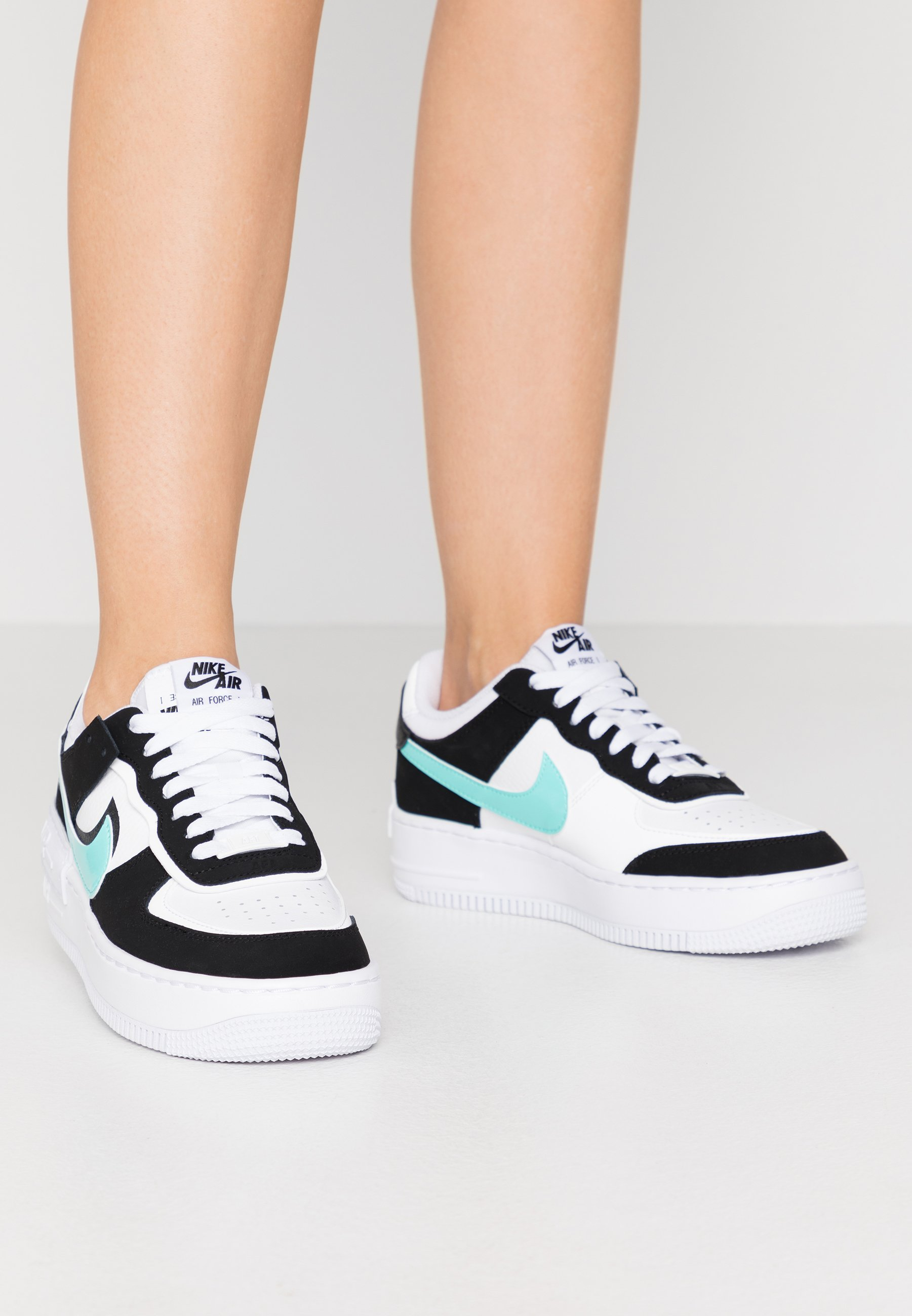 Nike Sportswear Air Force 1 Shadow Trainers White Aurora Green Black White Zalando Co Uk Check the transparent swoosh on this baby. air force 1 shadow trainers white aurora green black