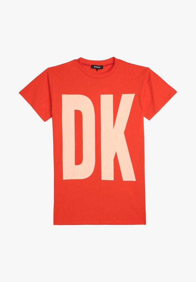T-shirt print - coquelicot