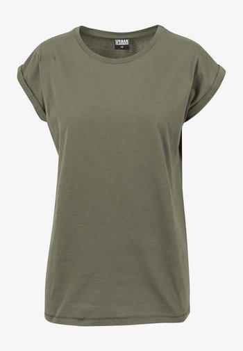 EXTENDED SHOULDER TEE - T-shirt basique - olive