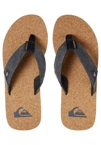 Quiksilver - MOLO ABYSS - T-bar sandals - black/brown - 1