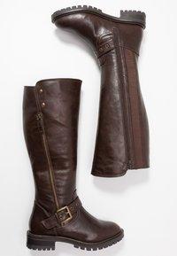 Simply Be - WIDE FIT GWEN KNEE HIGH - Kovbojské/motorkářské boty - brown - 3
