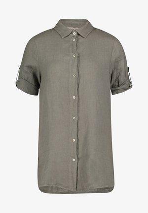 Button-down blouse - linen green