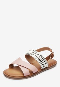 Next - PINK/ ZEBRA CROSS STRAP SANDALS (OLDER) - Sandals - pink - 2
