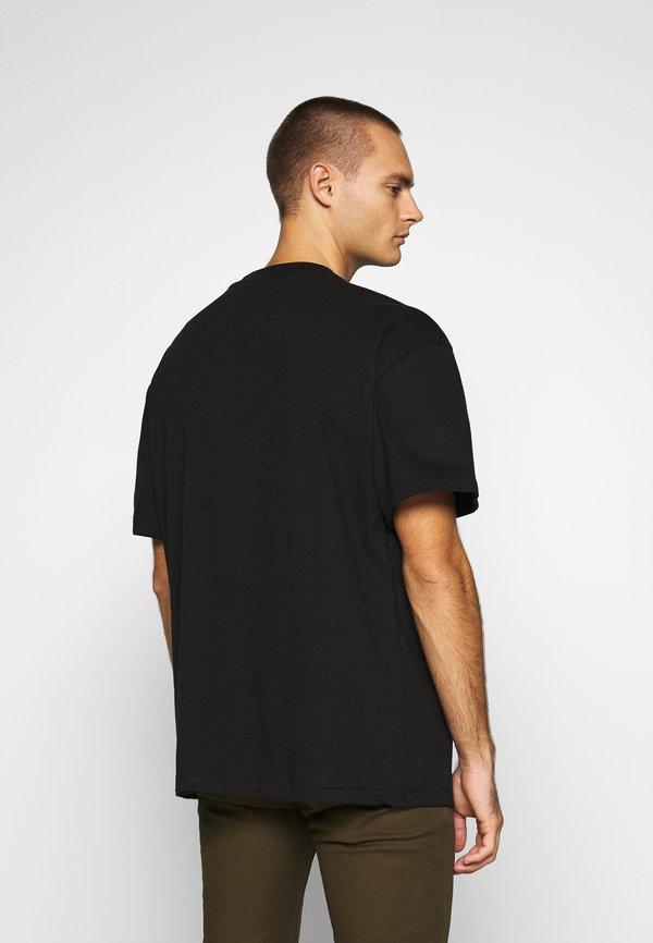 Weekday GREAT - T-shirt basic - black/czarny Odzież Męska RXAD