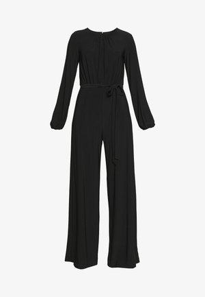 PLEATED BLOUSON JUMPSUIT - Overal - black