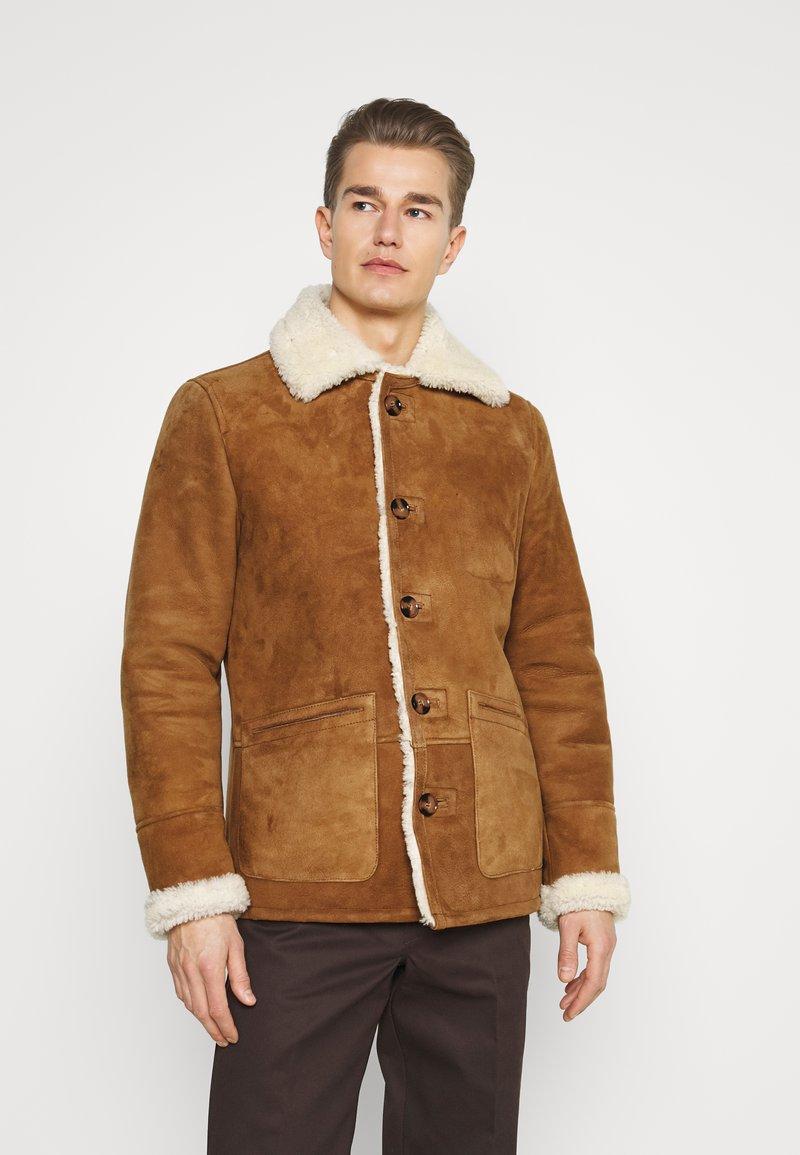Schott - ARKANSOS - Leather jacket - rust
