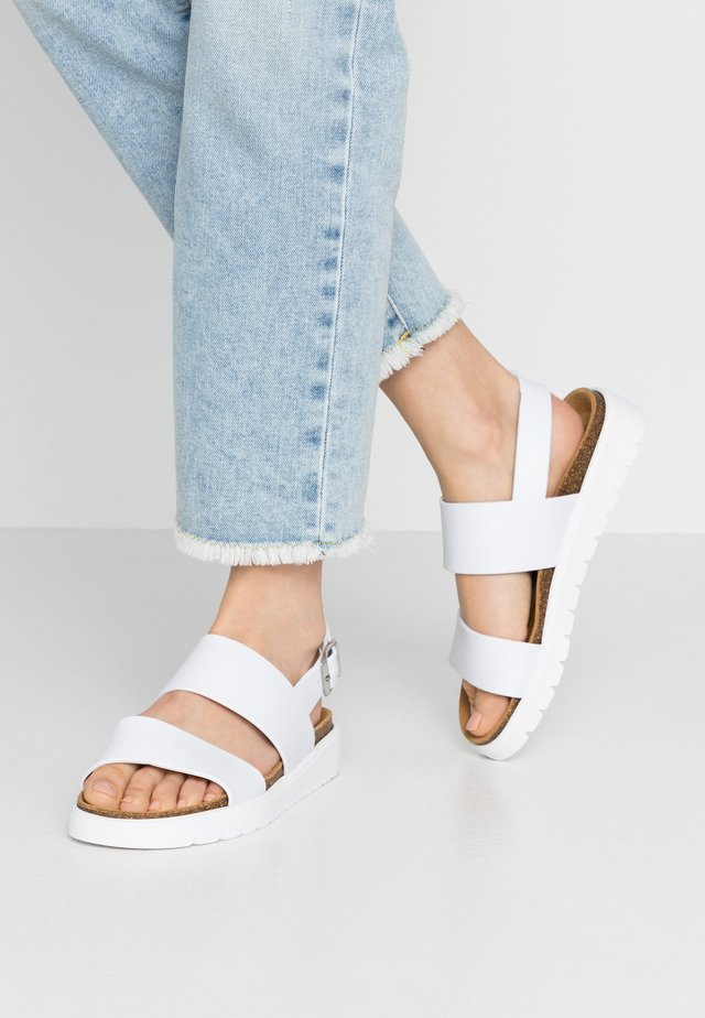 VEGAN ASHAI - Sandals - white/natural