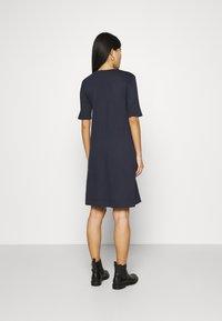 GANT - A LINE DRESS - Jersey dress - evening blue - 2