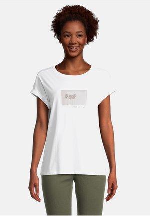 Print T-shirt - white/cream