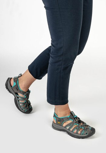 WHISPER WOMEN - Walking sandals - dark shadow/ceramic