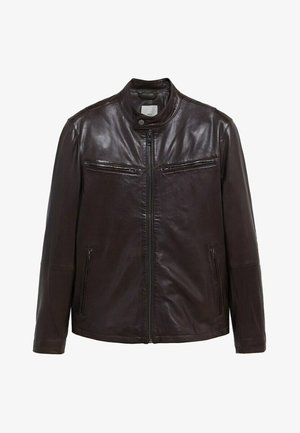 EROS - Leather jacket - schokolade