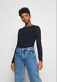 G-Star - POINTELLE R SLIM KNIT WMN L\S - Jumper - sartho blue - 0