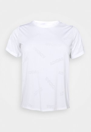 AEROKNIT TEE - Print T-shirt - white/black