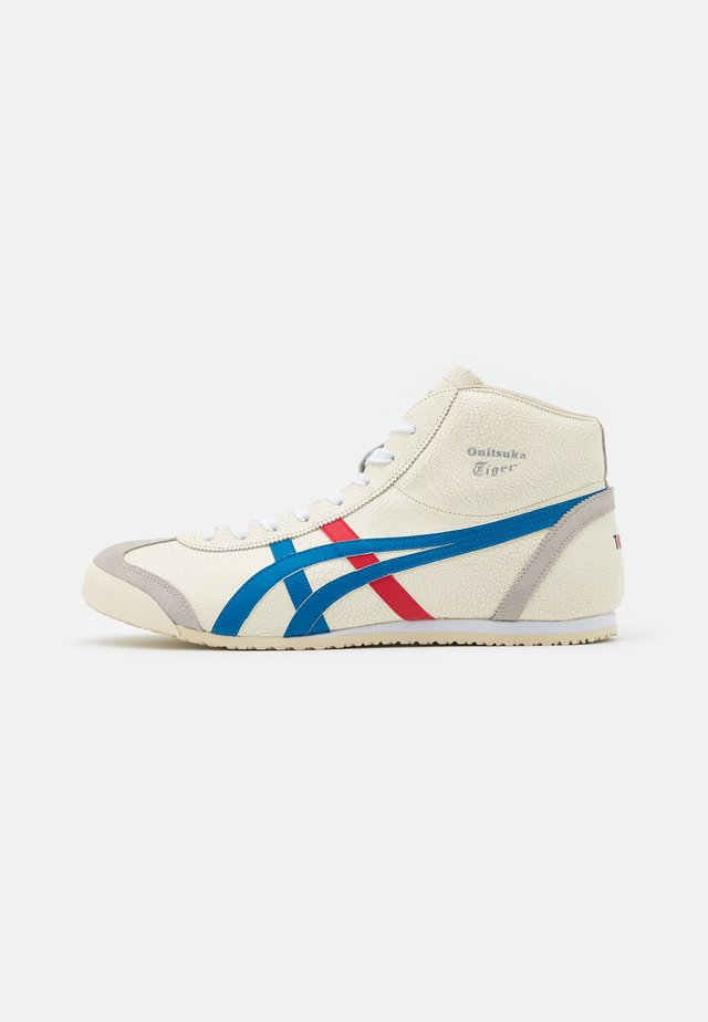 MEXICO MID RUNNER UNISEX - Korkeavartiset tennarit - white/blue