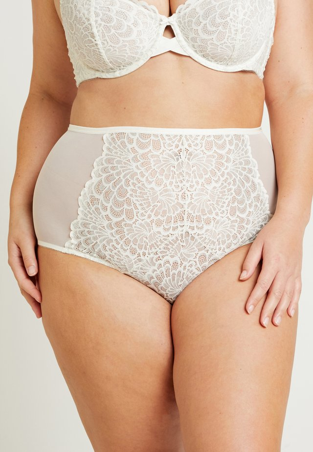 PLUS HIGH WAIST BRIEF - Figi - vanilla ice