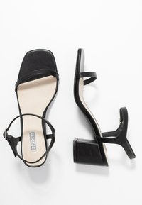 Nly by Nelly - SQUARE BLOCK HEEL  - Sandály - black - 3