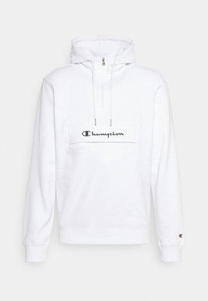 HOODED HALF ZIP  - Sweatshirt - white