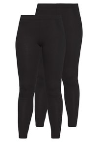Even&Odd Petite - 2 PACK  - Leggings - black/black - 0