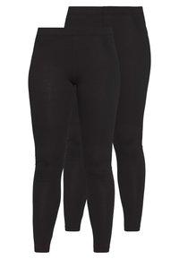 2 PACK  - Leggings - Trousers - black/black