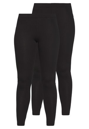 2 PACK  - Leggingsit - black/black