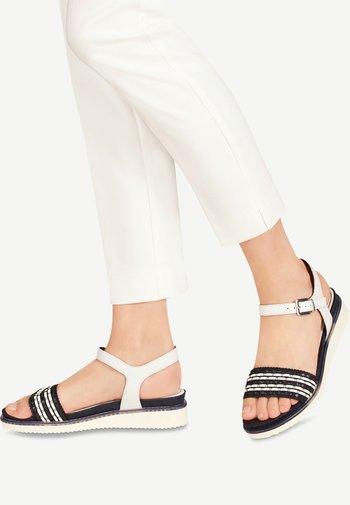 Platform sandals - white/navy