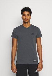 adidas Performance - TECH TEE - Basic T-shirt - black - 0