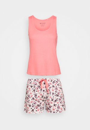 BUTTERFLY VEST SHORT  - Pyžamo - pink