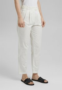 Esprit Collection - FASHION - Trousers - white - 3