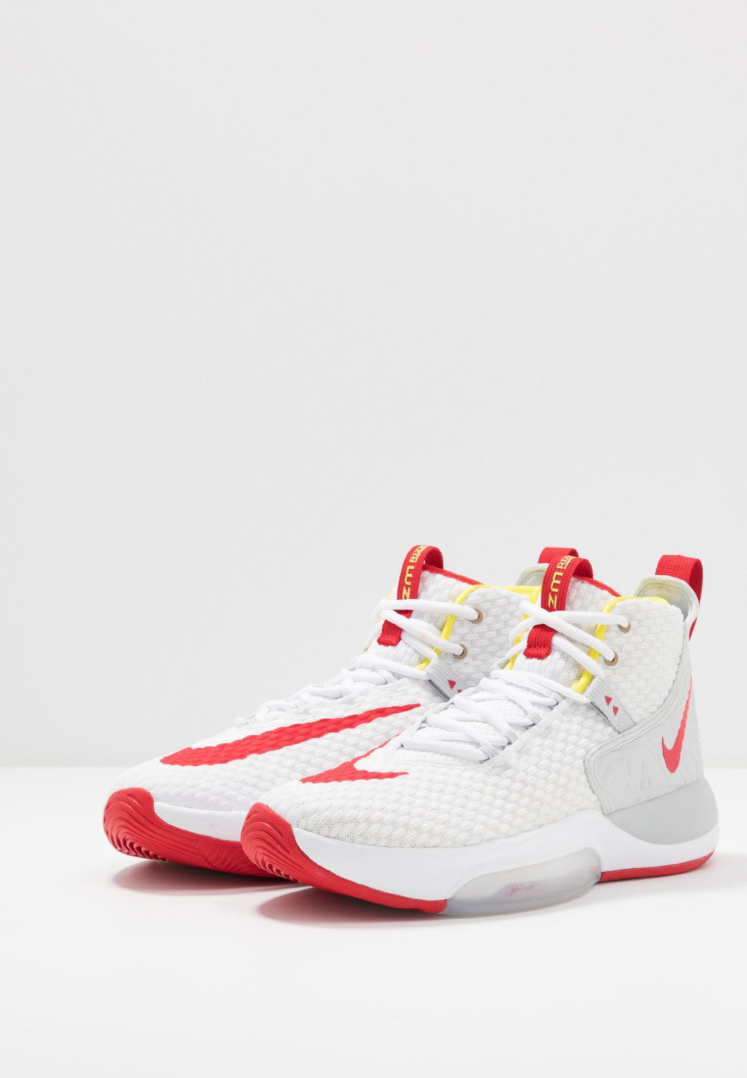 Nike Performance ZOOM RIZE - Basketballschuh - white/red orbit/aurora green/weiß - Herrenschuhe 9a84n
