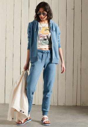 ORANGE LABEL - Zip-up sweatshirt - blue bottle marl