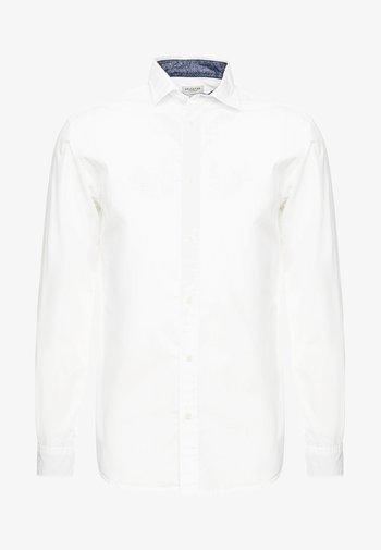 SLHSLIMMARK WASHED - Kostymskjorta - bright white