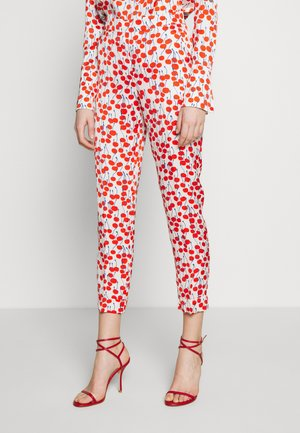 CHERRY PRINT TROUSER - Trousers - ivory