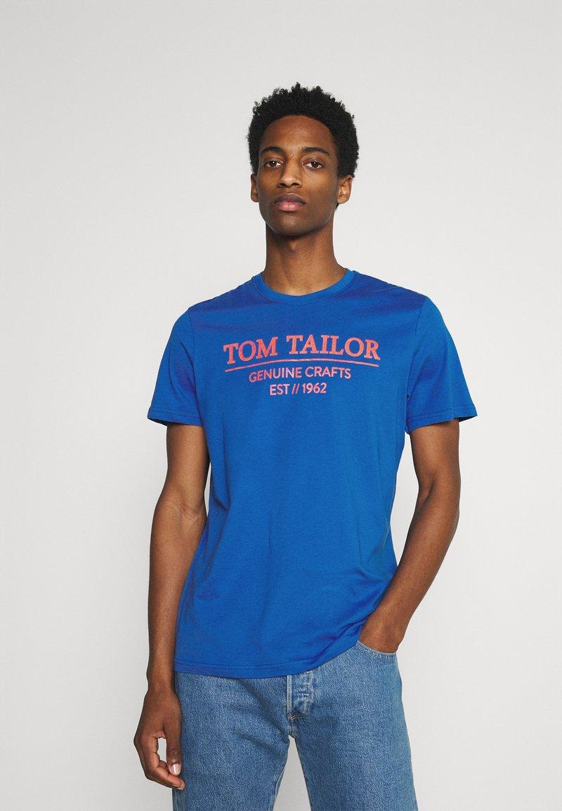 TOM TAILOR - Triko spotiskem - clearly blue