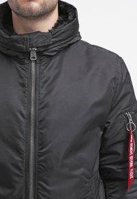 Alpha Industries - HOODED STANDART FIT - Light jacket - black - 5