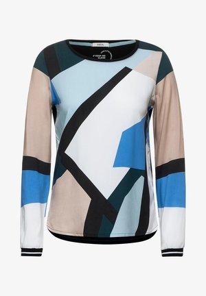 MIT GRAFIK-PRINT - Long sleeved top - grün