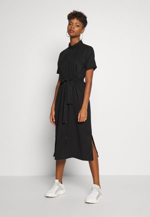 OBJTILDA ISABELLA S/S DRESS NOOS - Shirt dress - black